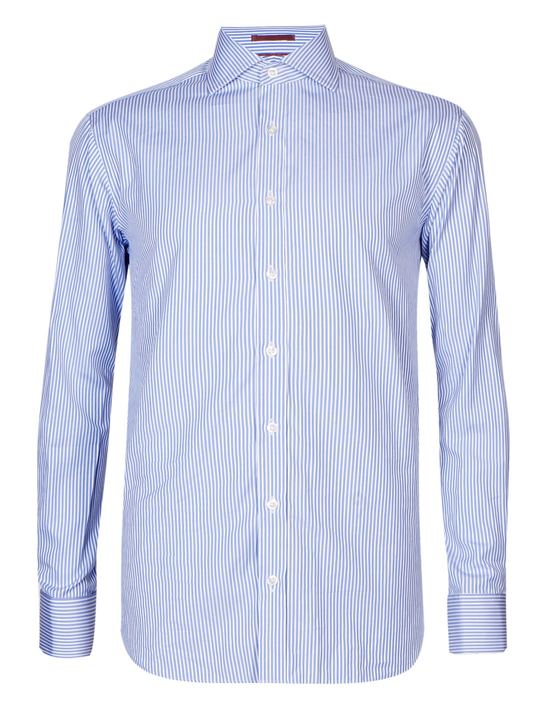 241efc972e16 M S COLLECTION LUXURY  Pure Cotton Non-Iron Tailored Fit Bold Striped Shirt